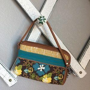 Fossil Women's Zip-up Floral Wallet